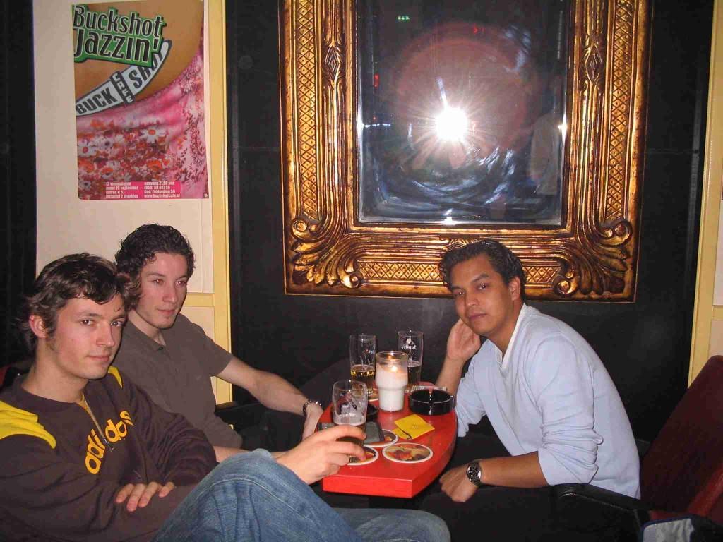 Three dark-haired guys